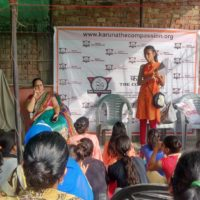 Workshop with women at Karuna Foundation
