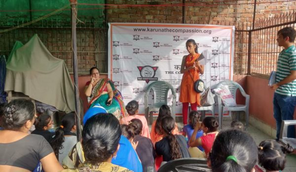 Workshop with women at Karuna Foundation