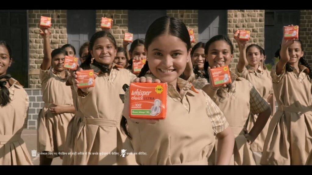 School girls, sanitary pads