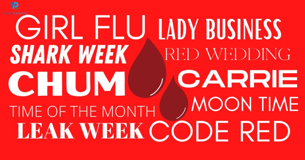 girl flu, blood drop, lady business, shark week, red wedding, chum, code red