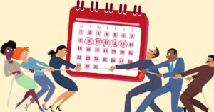 calendar, debate, men, women