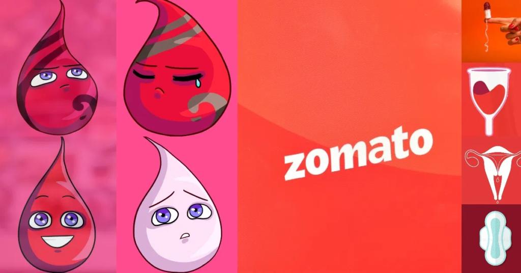 blood, drop, zomato, period leave