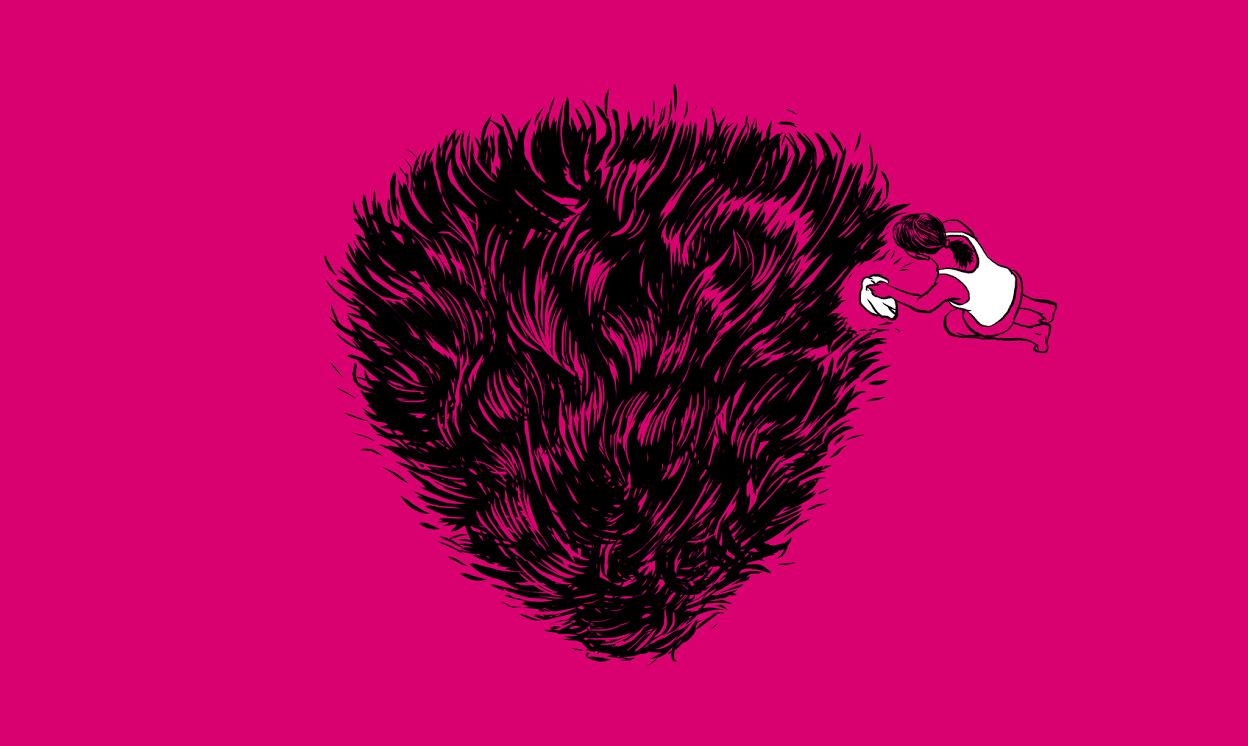 vagina, pubic hair